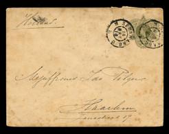 NEDERLANDS INDIË - Voorgefrankeerde Brief Van Soerabaja Naar Haarlem. - Netherlands Indies