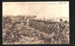 AK Les Deux Derniers Carrès à Waterloo, Befreiungskriege - Guerres - Autres