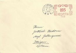 Drucksache  Entlebuch  (Freistempel / Krone)        1935 - Cartas