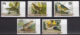 NIUE 1985 Birth Bicentenary Of Audubon IMPERF Plate Proofs, Set Of 5 - Niue