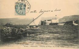 """CPA FRANCE 83 """"Toulon, Entrée Du Port, La Petite Passe"""" - Toulon"""