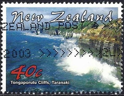 New-Zealand 2002 - Mi 2012 - YT 1925 ( Cliffs Of Tongaporutu ) Perf. 14 - Size 40 X 30 - Used Stamps