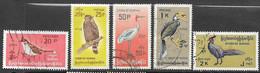 Burma  1968    Sc#203-6, O114  Better Birds Used    2016 Scott Value $6.35 - Myanmar (Birmanie 1948-...)