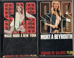 SAS - Magie Noire A New York & Mort A Beyrouth - ( Gérard De Villiers Plon ) 1968 Et 1972 - Gerard De Villiers