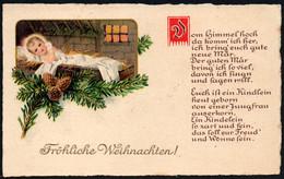 F0531 - Litho Glückwunschkarte Weihnachten - Weihnachtskrippe Krippe - WHB - Non Classés
