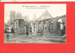 80 CORBIE Cpa Rue Victor Hugo Incendiée Par Obus   Edit Dentart - Corbie