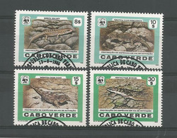 Cabo Verde 1986 WWF Reptiles Y.T. 493/496  (0) - Cape Verde