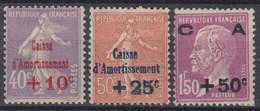 FRANCE : CAISSE D'AMORTISSEMENT SERIE N° 249/251 NEUVE * GOMME AVEC CHARNIERE - Sinking Fund
