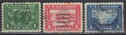 Etats-Unis N° 195 (B), 196 (B), 197 (B) Dentelés 10. - Used Stamps