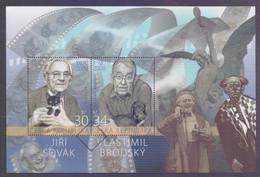 CZECH REPUBLIC 2020 - Film Actors Jiri Sovak And Vlastimil Brodsky, Miniature Sheet MNH (Specimen) - Hojas Bloque