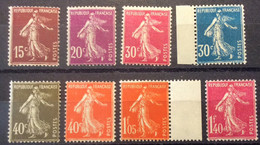 189 à 196 Série Semeuse  Neuf ** (193 - 194 - 195 Infime Trace ) - 1906-38 Semeuse Camée