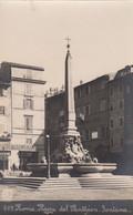 ROMA-PIAZZA DEL PANTHEON-FONTANA-BAR CON INSEGNA FERROCHINA BALIVA-CARTOLINA VERA FOTO- NON VIAGGIATA 1910-1920 - Places