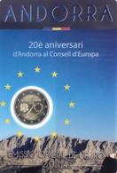 """2 € Commemorativi Andorra - 2014 - """"20° Anniv. Ingresso Di Andorra Nel Consiglio Europeo"""" - Andorre"""