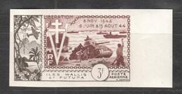 WW825 IMPERF WALLIS & FUTUNA 1954 AIR MAIL HISTORY WWII WORLD WAR 2 LIBERATION 1942-1944 1ST MNH - Seconda Guerra Mondiale