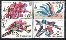 Tchécoslovaquie 1980 Mi 2547-50 (Yv 2371-4), Obliteré, - Usados