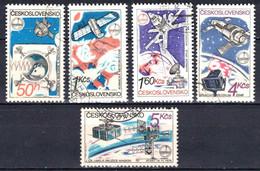 Tchécoslovaquie 1980 Mi 2558-62 (Yv 2386-90), Obliteré, - Usados