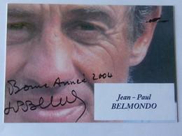 Jean Paul BELMONDO - Signé / Dédicace Authentique / Autographe - Acteurs