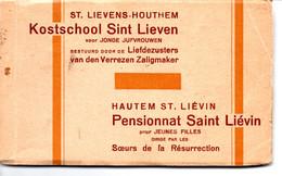 Sint-Lievens-Houtem : Boekje Met 11 Kaarten Kostschool - Sint-Lievens-Houtem