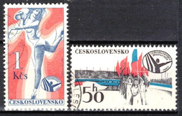 Tchécoslovaquie 1980 Mi 2571-2 (Yv 2398-9), Obliteré, - Usados