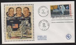 """USA 1969 FDC """"premier Homme Sur La Lune""""  09/09/69 - Covers & Documents"""