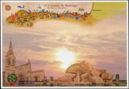 ESPAÑA ESPAGNE 2019 - ENTIER POSTAL OBLITÉRÉ : CHEMIN DU NORD DE SAINT JACQUES ET PRIMITIF BILBAO - Christendom