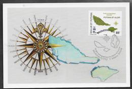 2008 Wallis Et Futuna N° Maxicard . Projet Cartographique Futuna Et Alopi. Timbre Du BF 23. 7 Mars 2008. - Maximum Cards