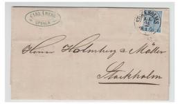 SUEDE--1870-- Lettre D'UPSALA Pour STOCKHOLM -- Affranchissement 12 öre - - Briefe U. Dokumente