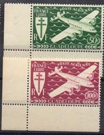 GUADELOUPE ( AERIEN ) : Y&T  N°  4/5  TIMBRES  NEUFS  SANS  TRACE  DE CHARNIERE . A  SAISIR . - Luchtpost