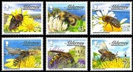 Aurigny Alderney 2009 Yvertn° 346-351 *** MNH Faune Bijen Bees Abeilles - Alderney
