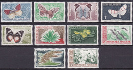 MG-10 – MALAGASY – 1960 – BUTTERFLIES & CULTURES - MI # 445/454 MNH 9,50 € - Madagascar (1960-...)