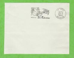 ILE DE LA REUNION - FLAMME LE PORT VISITEZ LA REUNION  DE 1966 - Mechanical Postmarks (Advertisement)