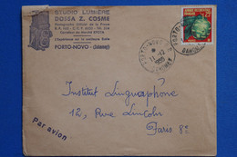 R10 AOF DAHOMEY BELLE LETTRE 1959 PAR AVION PORTO NOVO STUDIO LUMIERE POUR PARIS FRANCE+ AFFRANCH PLAISANT - Covers & Documents