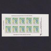FINLAND 1998, Mi# 1430, Harebell, Plants, Booklet Pane, Self Adhesive - Ungebraucht