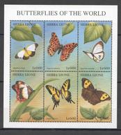 H005 SIERRA LEONE BUTTERFLIES OF THE WORLD FLORA & FAUNA KB MNH - Butterflies