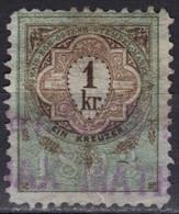 Autriche Timbre Fiscal 1893 1 Kr - Fiscale Zegels