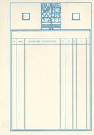 Wiener Werkstätte Blanco Rechnungsformular I-II - Sin Clasificación