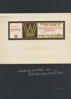 Wiener Werkstätte Einkaufsgutschein I-II (fleckig) - Sin Clasificación