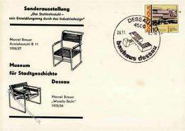 Bauhaus Dessau Briefumschlag Mit Sondermarke Und Sonderstempel I-II - Sin Clasificación
