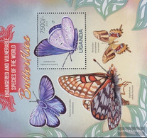 Uganda Block416 (complete Issue) Unmounted Mint / Never Hinged 2013 Butterflies - Uganda (1962-...)