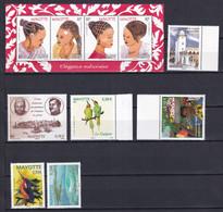 MAYOTTE - ANNEE 2011 INCOMPLETE YVERT N° 241/ 250 * MNH - VALEUR FACIALE = 5.8 EUR - Ongebruikt