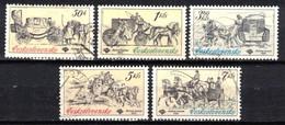 Tchécoslovaquie 1981 Mi 2598-2602 (Yv 2423-7), Obliteré - Usados