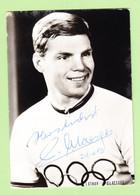 CYCLISME - Lothar CLAESGES - Dédicace En  Octobre 1986 - Médaillé Olympique à Tokio En 1964 - 2 Scans - Ciclismo