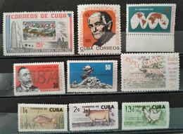CUBA - 1962/1964 Lot 9 Valeurs ** / * (voir Détail Et Scan) - Nuovi
