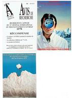 LOT 3 Cpm - Festival Fantastique FILM AVORIAZ Philip Morris Cinéma Lettre Alphabet Dents Dracula - 1983 - 1978 - 1979 - Plakate Auf Karten