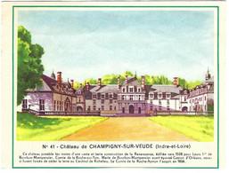 Chromo - Biscottes Gringoire - N° 41 Château De Champigny-sur-Veude (37) - [image Découpée : Voir 2e Scan] - Otros
