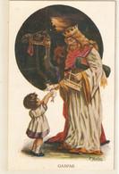 """J. Ibañez. Rey Mago Gasparr. Wise Man With Present For Children"" Vintage Spanish Postcard - Other Illustrators"