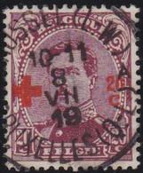 Belgie   .   OBP  .    155      .    O     .    Gebruikt       .  /  .    Oblitéré - 1918 Red Cross