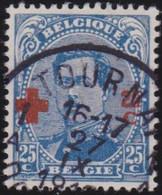 Belgie   .   OBP  .    156      .    O     .    Gebruikt       .  /  .    Oblitéré - 1918 Red Cross
