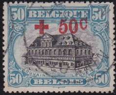 Belgie   .   OBP  .    159      .    O     .    Gebruikt       .  /  .    Oblitéré - 1918 Red Cross