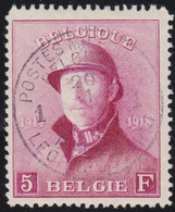 Belgie   .   OBP  .    177        .    O     .    Gebruikt       .  /  .    Oblitéré - 1919-1920 Behelmter König